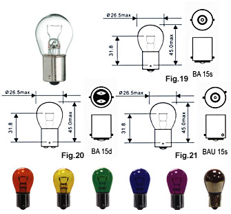 automotive light bulbs S25 single filament